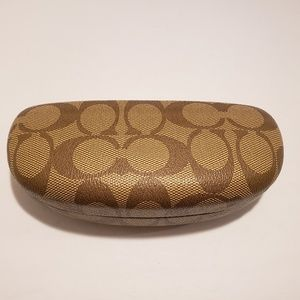Coach Clamshell Signature Hard Glasses Case